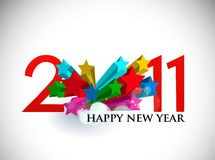 3d star design for new year design Stock Images
