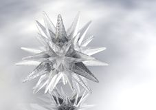 3D Star of Ice Stock Image