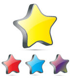 3d star  icon. 3D star isolated on white Stock Photography
