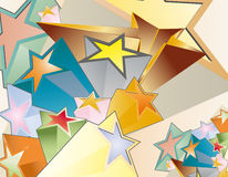 3D stars. Illustration of background with 3D stars Stock Photography