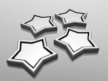 3d stars Stock Images