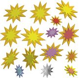 3d stars Royalty Free Stock Images