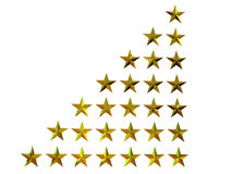 3D stars Royalty Free Stock Photos