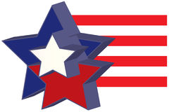 3D Stars American Flag Royalty Free Stock Images
