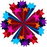 3d Stars Blumen-Blumenstrauß Stockfotografie