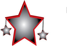 3D Stars le fond illustration stock