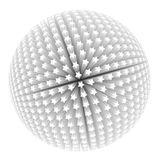 3d stars like a sphere Royalty Free Stock Photography