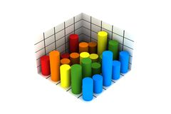 3d statistics Royalty Free Stock Images