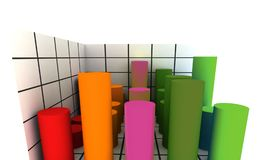 3d statistics royalty free stock image
