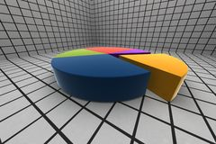 3d statistics Royalty Free Stock Photos