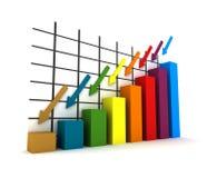 3d statistics Stock Photos