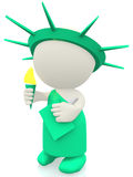 3D statue of liberty Royalty Free Stock Photos