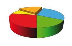 3d statystyki Obrazy Stock