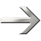 3D Steel Arrow Royalty Free Stock Images