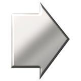 3D Steel Arrow Stock Image