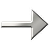 3D Steel Arrow Stock Photography