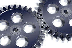 3d steel gears. Stock Photography