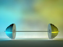 3d steel lifting Stock Photography