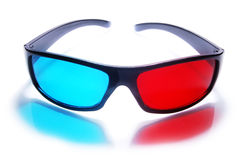 3D stereo anaglyph glasses Royalty Free Stock Photos