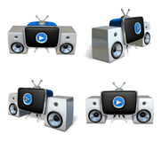 3d stereo system array Stock Photography