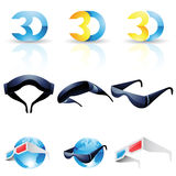 3D stereoscopic glasses Royalty Free Stock Image