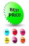 3D sterren voor kortingsprijzen Stock Afbeeldingen