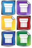 3D Sticker Set - column Stock Image