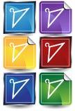 3D Sticker Set - Hangers Stock Images