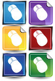3D Sticker Set - Mouse Royalty Free Stock Image