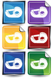 3D Sticker Set - Tape Dispenser Stock Images