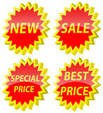 3D Stickers. On a white background. A  illustration Royalty Free Stock Photos