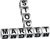 3D Stock Market Dice Message Stock Photos