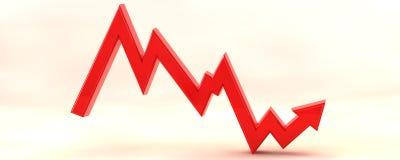 3D stockmarket graph illustration Stock Photo