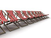 3d stoelen stock illustratie