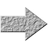 3D Stone Arrow Royalty Free Stock Images