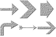 3D Stone Arrows Royalty Free Stock Photography