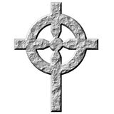 3D Stone Celtic Cross Royalty Free Stock Images