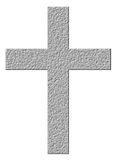 3D Stone Cross Stock Photography