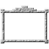 3D Stone Frame. Isolated in white Stock Photos