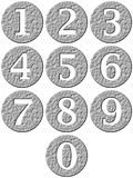 3D Stone Framed Numbers. Isolated in white Royalty Free Stock Images