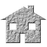3D Stone House Royalty Free Stock Images