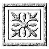 3D Stone Ornament. Isolated in white Royalty Free Stock Photos