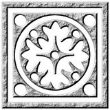 3D Stone Ornament. Isolated in white Royalty Free Stock Photography