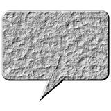 3D Stone Speech Bubble. Isolated in white Stock Photos