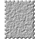 3D Stone Stamp. Isolated in white Royalty Free Stock Photography