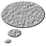 3D Stone Thought Bubble. Isolated in white Royalty Free Stock Image