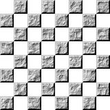 3D Stone Tiles. Isolated in white Stock Photography