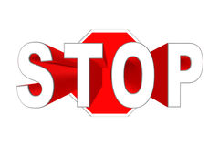3d stop sign Stock Photography