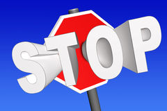 3d stop sign Royalty Free Stock Photography