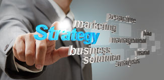3d strategy business concept stock photography